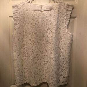 White lace blouse. Worn once.